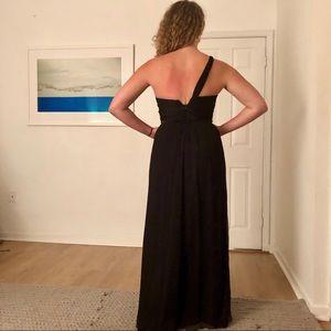Black Silk Evening Gown